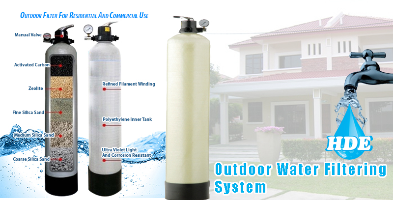 Outdoor water filtering system